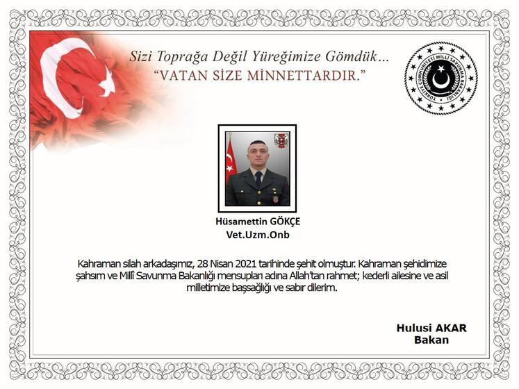 MSB duyurdu: Bir askerimiz şehit oldu, 2 askerimiz yaralandı