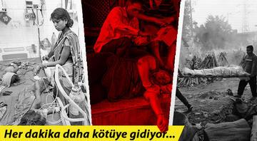Koronavirüs kıyameti <strong>Hindistan</strong>daki kriz her gün daha kötüye gidiyor..