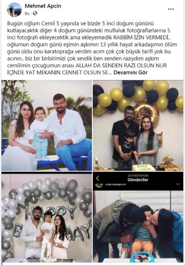 Zeynepin eşinden duygusal paylaşım... Oğlunun doğum günü alışverişine giderken kazada hayatını kaybetmişti