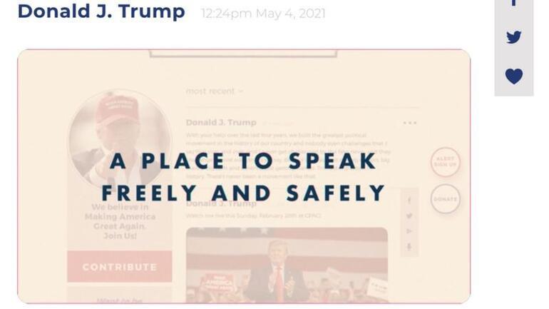 <strong>Sosyal medya</strong>dan uzaklaştırılan <strong>Trump</strong>, kendi iletişim platformunu kurdu