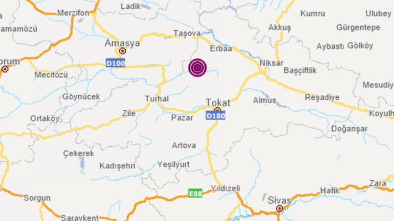 Son dakika... Tokat Erbaada korkutan deprem