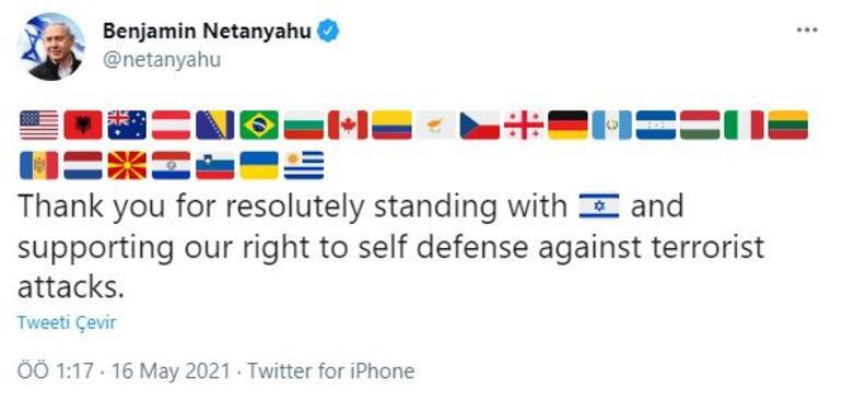 Netanyahu katliama destek veren ülkeleri açıkladı
