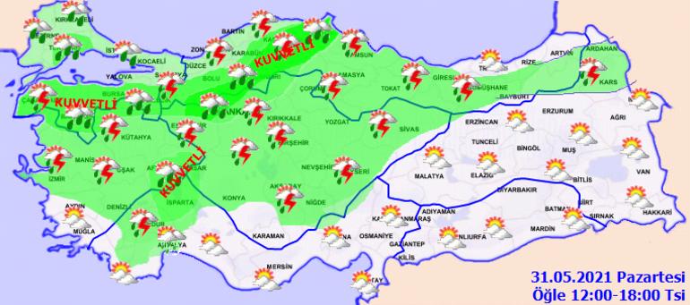 Son dakika: Meteorolojiden çok sayıda kente hava durumu uyarısı Sağanak ve gök gürültülü sağanak geliyor