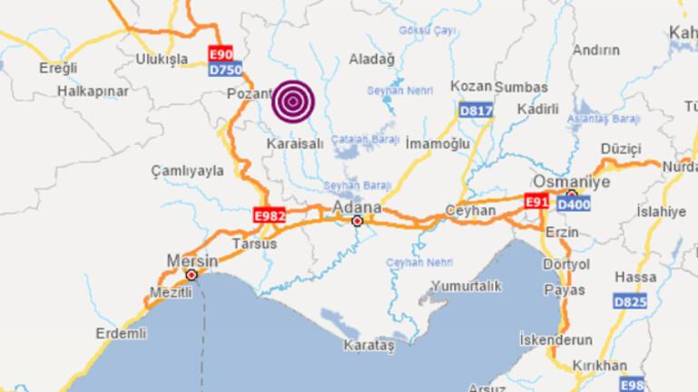 Son dakika... Adana Karaisalıda şiddetli deprem