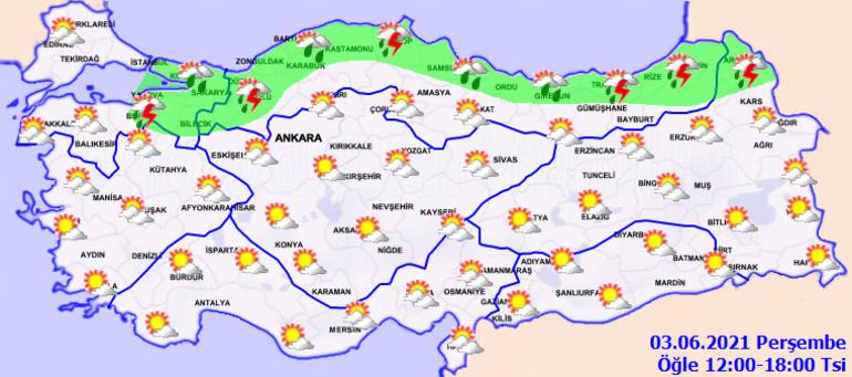 Son dakika: Meteorolojiden İstanbula gök gürültülü sağanak uyarısı