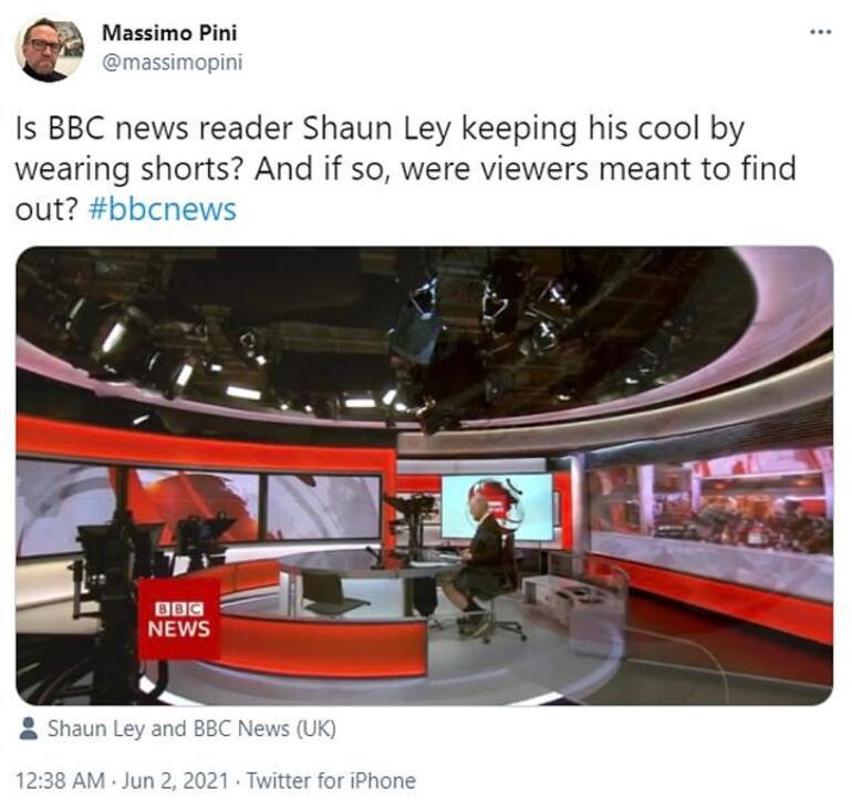 Dünya bu görüntüleri konuşuyor... BBC sunucusu yayına şortla çıktı