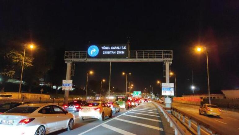 İstanbulda peş peşe araç yangını FSM Köprüsünden sonra Avrasya Tünelinde de araç yandı Trafik kilitlendi