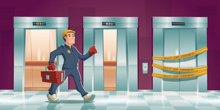 Binamızdaki tehlike Asansörler alarm veriyor...