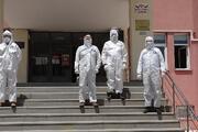 Çorumda koronavirüs temaslısı öğrenciler, ayrı okulda sınava alındı