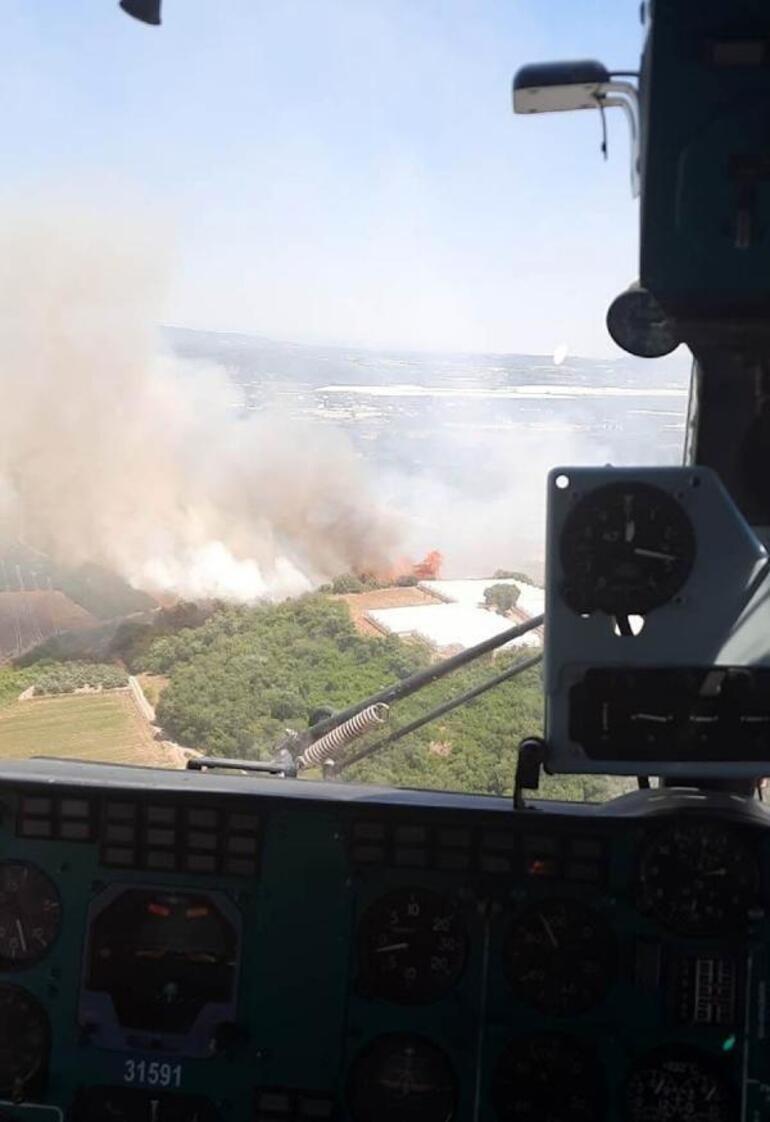Son dakika... Antalya Serikte 3 noktada orman yangını