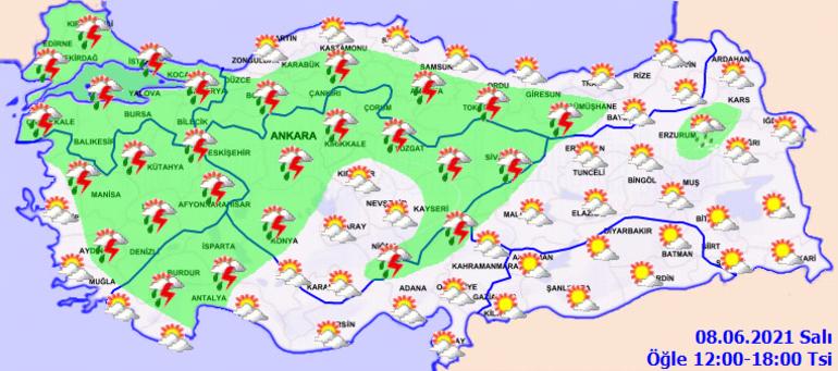 Son dakika hava durumu: Meteorolojiden çok sayıda kente sağanak yağış uyarısı