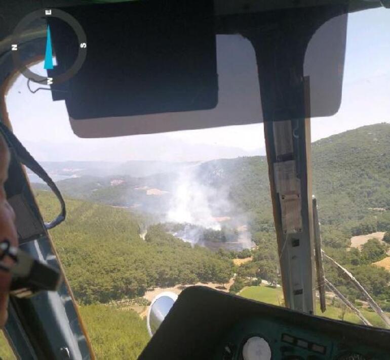 Son dakika... Karatepe Milli Parkında orman yangını