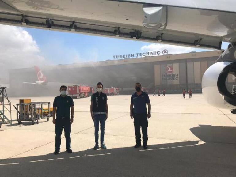 Atatürk Havalimanında oksijen tüpü patladı THYden açıklama