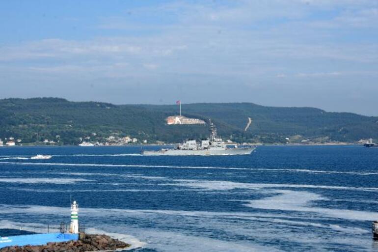 ABD savaş gemisi, Çanakkale Boğazından geçti