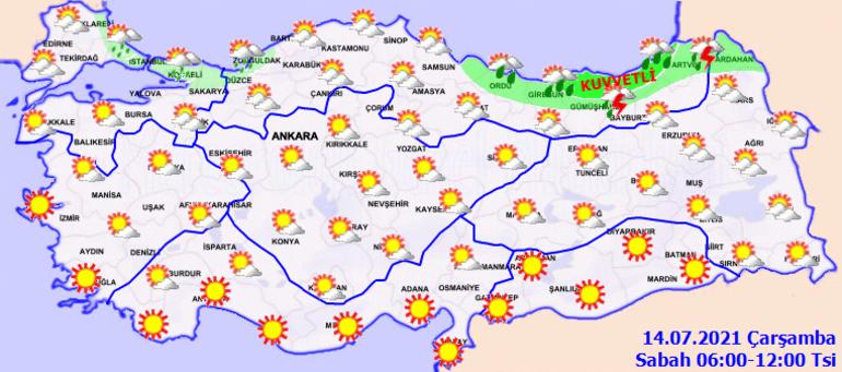 Son dakika: Meteorolojide İstanbul ile Kocaeli için hava durumu uyarısı