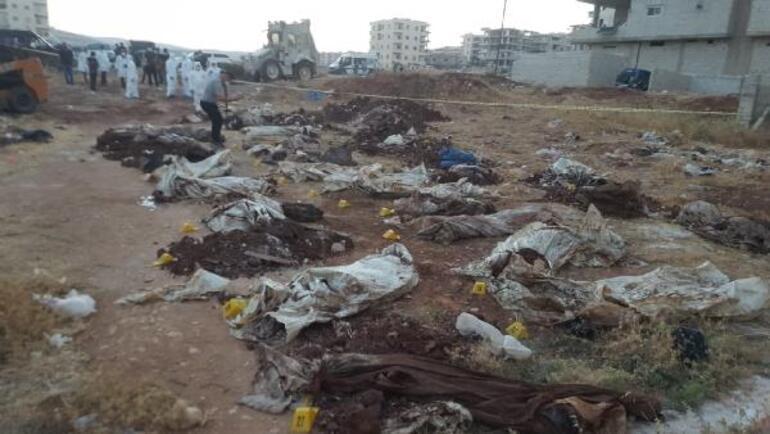 Afrin'de PKK/YPG/PYD katliamı Ceset sayısı 61'e yükseldi