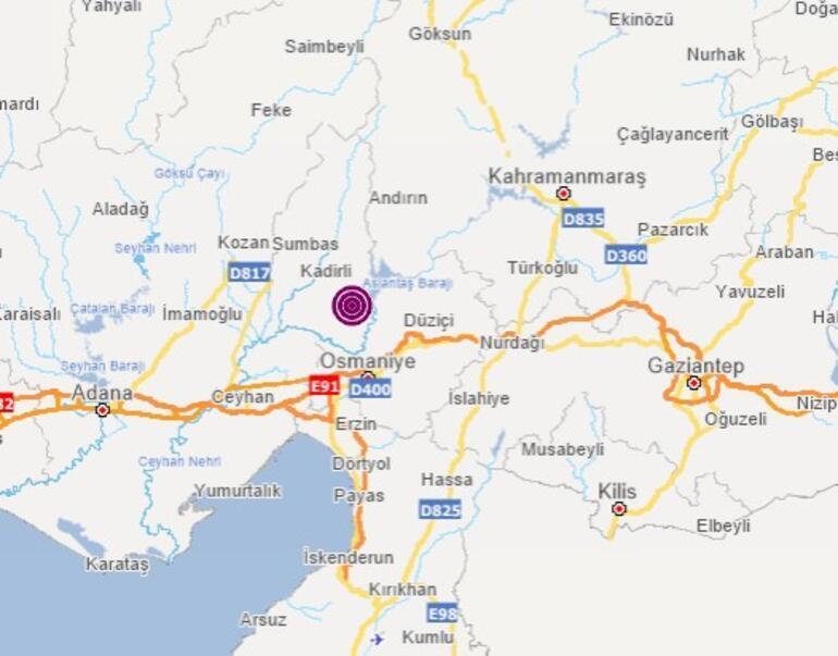 Son dakika: Osmaniyede deprem meydana geldi
