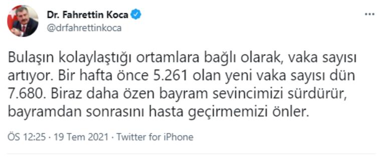 Son dakika: Sağlık Bakanı Fahrettin Kocadan koronavirüs açıklaması: Vaka sayısı artıyor deyip uyardı
