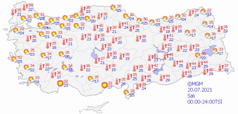 Bugün hava nasıl olacak Bayramın 1. günü için Meteorolojiden sıcak hava uyarısı İl il hava durumu