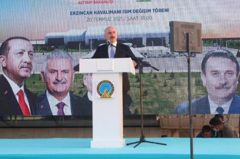 Eski Başbakan Yıldırım Akbulutun ismi Erzincan Havalimanına verildi