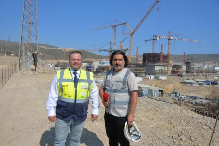 DHA, Akkuyu NGSnin inşaat alanında çalışmaları görüntüledi