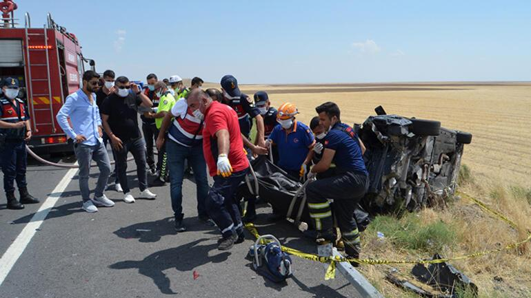 Aksarayda korkunç kaza Bariyere ok gibi saplandı