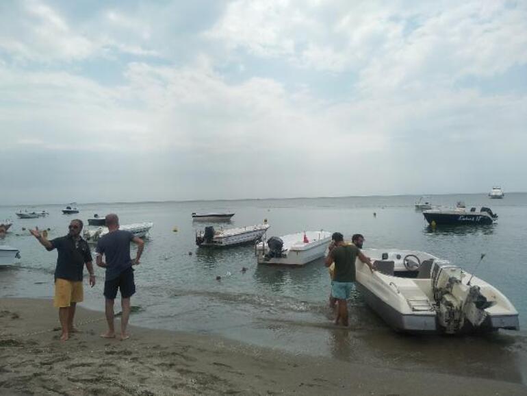 Kumburgaz sahilinde tekne krizi Belediyenin kararına tepki