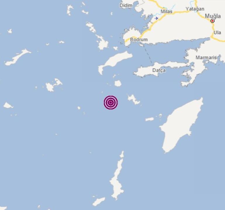 Son dakika: Datça açıklarında korkutan deprem