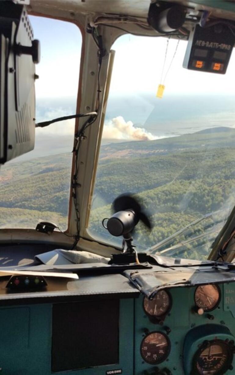 Aydında ormanlık alanda yangın Ekiplerin müdahalesi sürüyor
