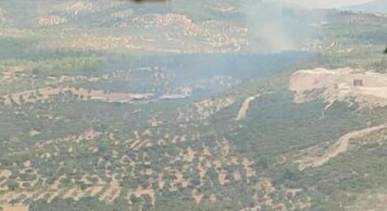 İzmirde makilik yangını Kısmen kontrol altına alındı