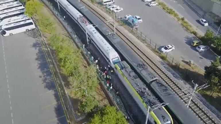 Son dakika... Tuzlada faciadan dönüldü İki tren kafa kafaya geldi