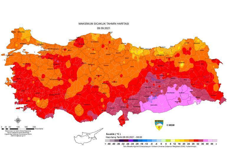 Son dakika... Meteoroloji haritayı paylaştı... Yarına dikkat: Bölge bölge sıralandı