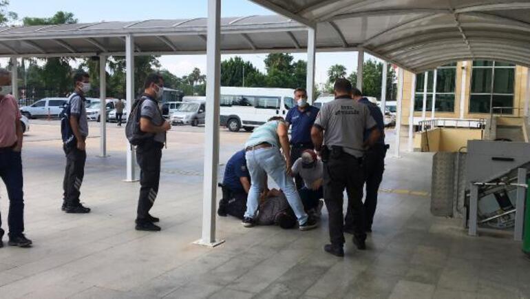 Adliyede kaçma girişiminde bulundu, vatandaş çelme takınca yakalandı
