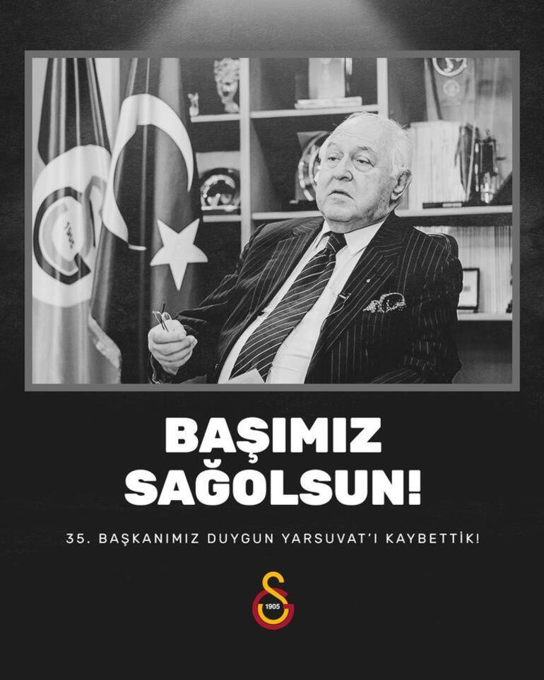 Son Dakika: Galatasaray eski başkanı Duygun Yarsuvat hayatını kaybetti
