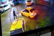 Taksi durağında kardeşe silahlı saldırı güvenlik kamerasında