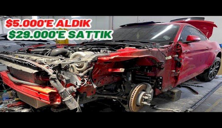 Hurda Mustang GT Aldık Yepyeni Yaptık | 730 Beygirlik Canavar