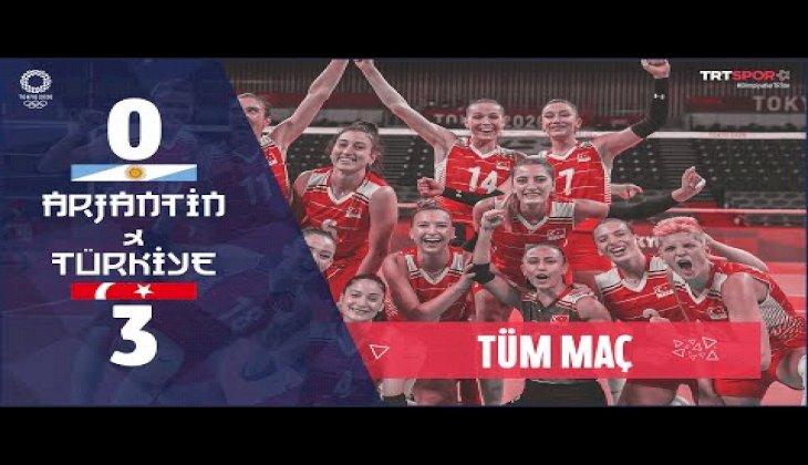 ÇEYREK FİNALDEYİZ! Türkiye 3 - 0 Arjantin (1. Set) | Tokyo 2020 Olimpiyatları