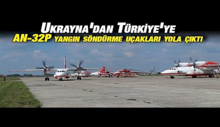 Ukrayna'dan Türkiye'ye 2 adet An-32P yangın söndürme uçağı yola çıktı